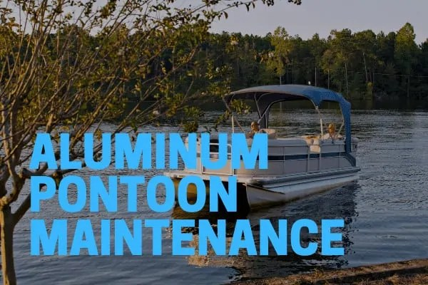 aluminum pontoon cleaners used on a dirty boat
