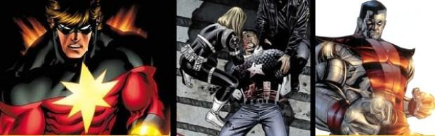 O precursor Capitão Marvel, Steve Rogers e Colossus já foram dessa para melhor também