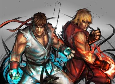 A dupla de karatecas Ryu e Ken