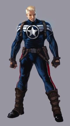Steve Rogers com o uniforme de Super Soldado