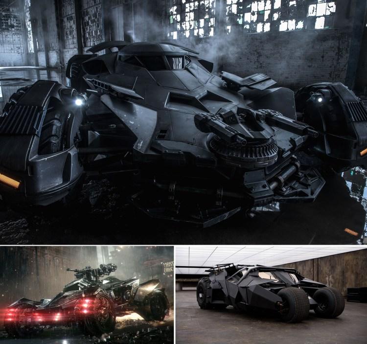 Batmóvel Batman V Superman: Dawn of Justice/ Batman Arkham/ Tumbler