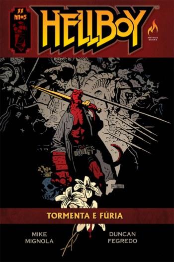 Capa do encadernado Hellboy: Tormenta e Fúria
