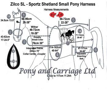 Horse Harness Shetland Small Pony Zilco SL Sportz Single