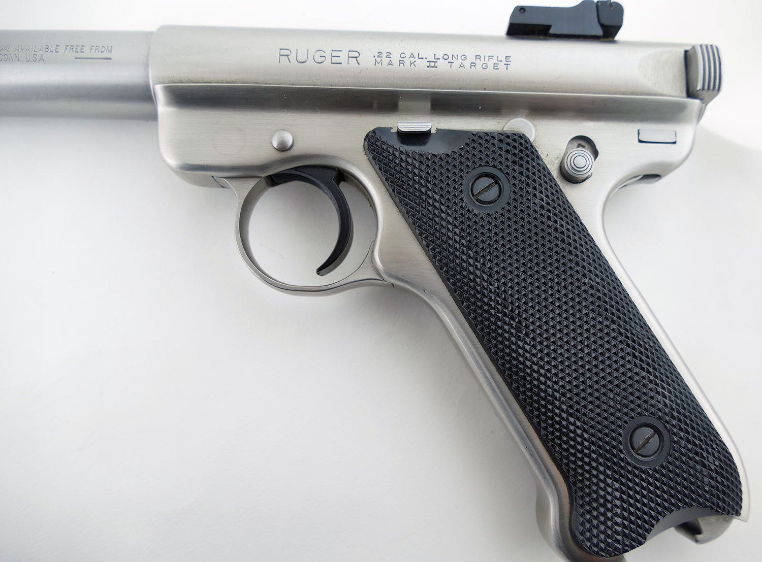 Ruger Mkii Stainless W 10 Barrel Pistol Excellent Shape