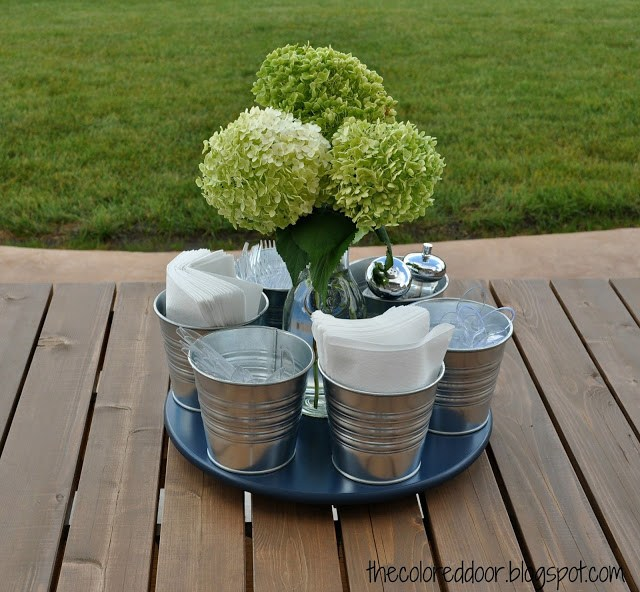 Lazy Susan tutorial from The Colored Door