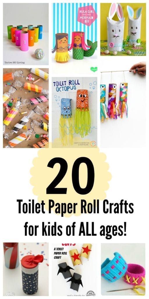20 Toilet Paper Roll Crafts for Kids of All Ages!