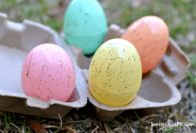 plastic egg craft
