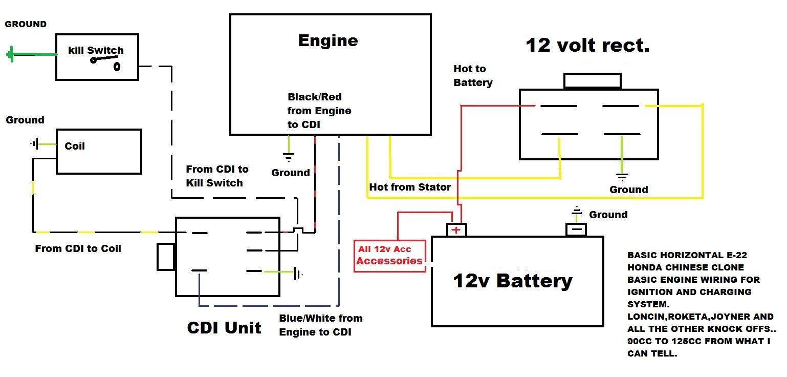 xtreme 90cc atv wiring diagram cdi ignition wiring diagram