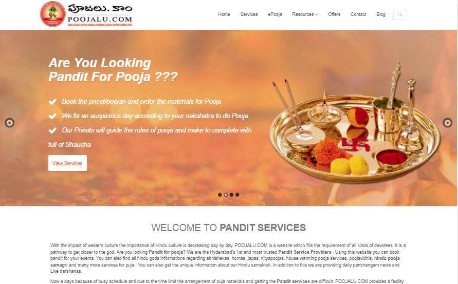 2015-Pandit Poojalu Services