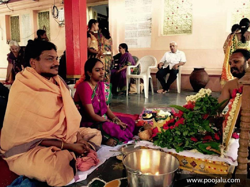 Pandit Performing Bilvarchana