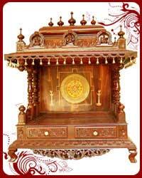Home Temple Wooden Puja Designs Teak Wood Models Pooja Mandir