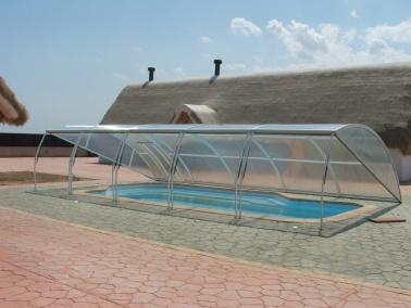 Poolabri  Abri piscine bas relevable amovible