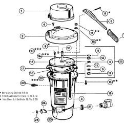 Hayward De Filter Parts Diagram Flat Bone Swimming Pool Filters - Perflex Extended-cycle Ec30 & Ec40 Series
