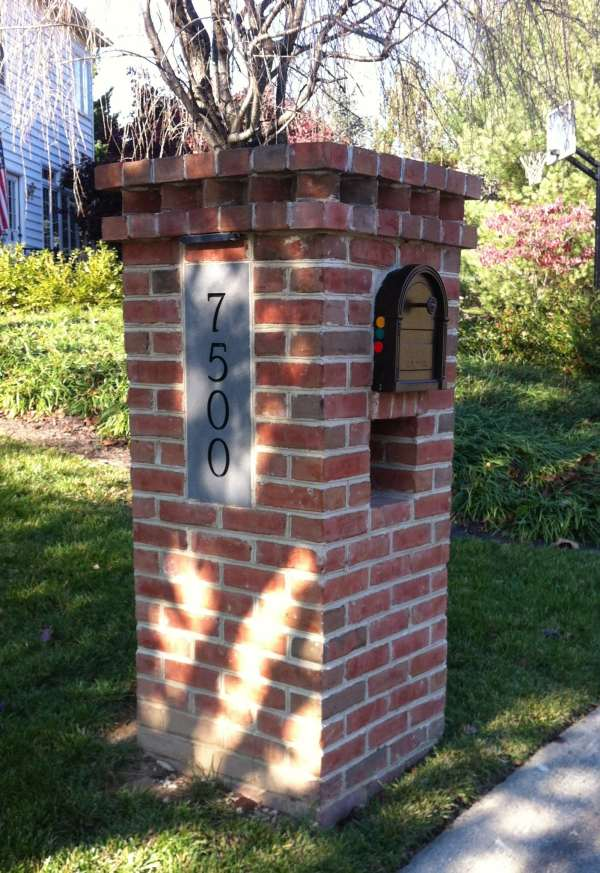 Brick Columns with Mailbox