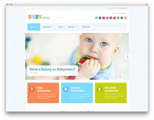 Baby Sitter Job Board Website Sample