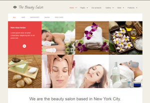 Beauty Saloon Website Sample