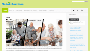 Care Service Website Sample Web Design