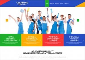Cleaning Services Sample Web Design