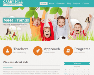 Elementary School Website Sample Web Design