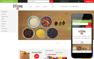 Grocery Store Website Sample Web Design