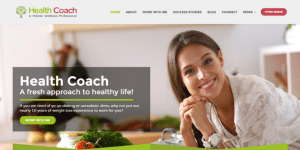 Healthy Diet Website Sample Web Design