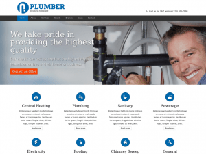 Hire a Plumber Website Sample Web Design