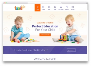 Kids Education Website Web Design