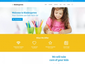 Kindergarten Website Sample Web Design
