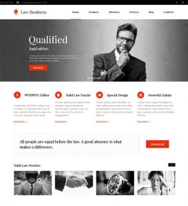 Law Business Website Sample Web Design