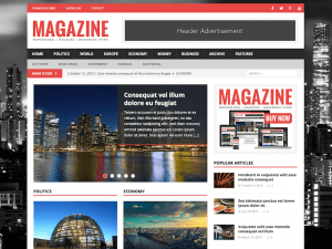 Magazine Website Sample Web Design