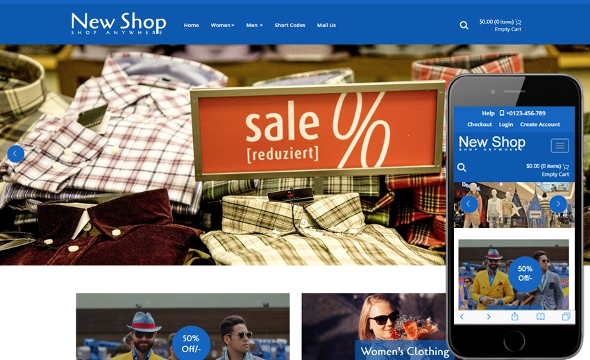 Online Shop Sample Web Design