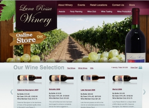 Online Wine Store Website Sample Web Design