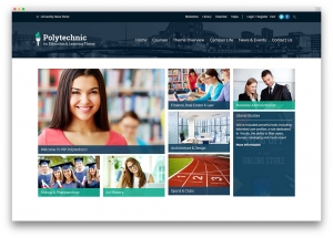 Polytechnic University Website Sample Web Design
