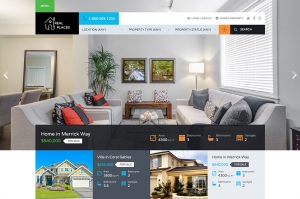 Real Estate Website Sample Webdesign