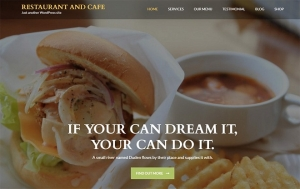 Restaurant-and-Cafe Sample Web Design