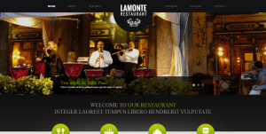 Restaurant Website Sample Web Design