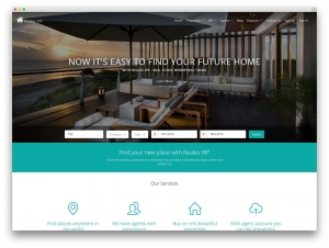 Stylish Property Agent Website Sample Web Design