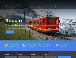 Travel Tour Website Sample Web Design