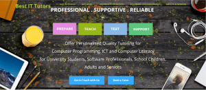 Tutoring Website Sample Design