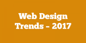 Web Design Trends – 2017