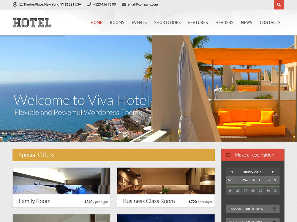 Hotel website sample web design poole web designers for Hotel web design