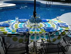 umbrella tablecloths outdoor