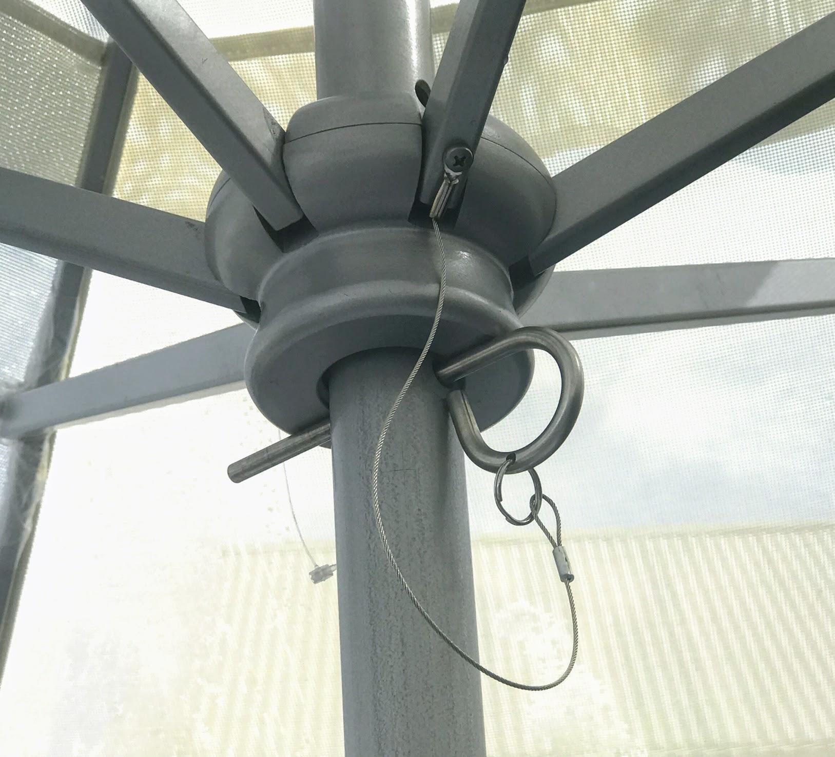 patio umbrella frame durable aluminum