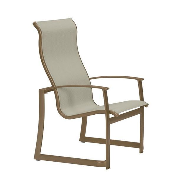 high back dining chair stools tropitone mainsail sling stackable for picture of commercial pool deck