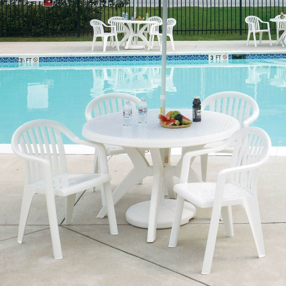 low back lawn chair 9 office brands armchair plastic resin miami lowback pool furniture supply picture of stacking lbs