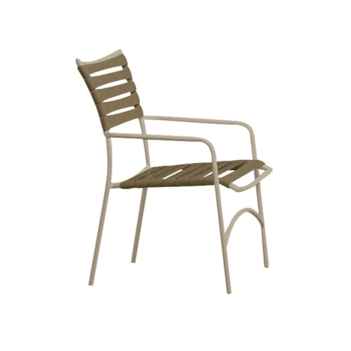 Tropitone Tropi Kai Strap Pool Dining Chair With Arms Stackable 8 Lbs