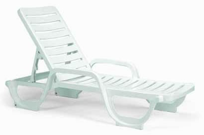 Pool Furniture Supply Chaise Lounge Plastic Resin Bahia