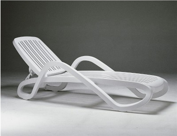 Pool Furniture Supply White Eden Plastic Resin Chaise