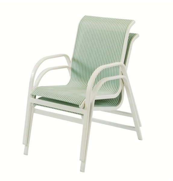 Pool Furniture Supply Dining Chair Fabric Sling Aluminum
