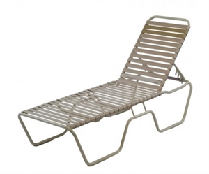 Pool Furniture Supply Vinyl Strap Commercial Chaise